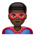 Man Superhero: Dark Skin Tone on WhatsApp 2.19.352