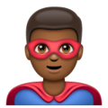 Man Superhero: Medium-Dark Skin Tone on WhatsApp 2.19.352