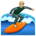 Man Surfing: Medium-Light Skin Tone on WhatsApp 2.19.352