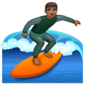 Man Surfing: Medium-Dark Skin Tone on WhatsApp 2.19.352