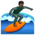 Man Surfing: Dark Skin Tone on WhatsApp 2.19.352