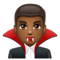 Man Vampire: Medium-Dark Skin Tone on WhatsApp 2.19.352