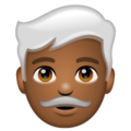 Man: Medium-Dark Skin Tone, White Hair on WhatsApp 2.19.352