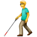 Man with Probing Cane on WhatsApp 2.19.352