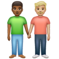 Men Holding Hands: Medium-Dark Skin Tone, Medium-Light Skin Tone on WhatsApp 2.19.352