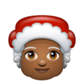 Mrs. Claus: Medium-Dark Skin Tone on WhatsApp 2.19.352