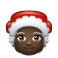 Mrs. Claus: Dark Skin Tone on WhatsApp 2.19.352