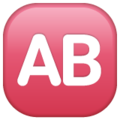 AB Button (Blood Type) on WhatsApp 2.19.352