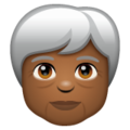 Older Person: Medium-Dark Skin Tone on WhatsApp 2.19.352