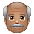Old Man: Medium Skin Tone on WhatsApp 2.19.352