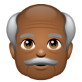 Old Man: Medium-Dark Skin Tone on WhatsApp 2.19.352