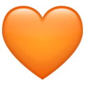 Orange Heart on WhatsApp 2.19.352