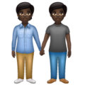 People Holding Hands: Dark Skin Tone on WhatsApp 2.19.352
