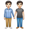 People Holding Hands: Light Skin Tone on WhatsApp 2.19.352