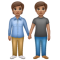 People Holding Hands: Medium Skin Tone on WhatsApp 2.19.352