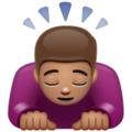 Person Bowing: Medium Skin Tone on WhatsApp 2.19.352
