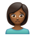 Person Frowning: Medium-Dark Skin Tone on WhatsApp 2.19.352