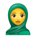 Woman with Headscarf on WhatsApp 2.19.352