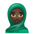 Woman With Headscarf: Dark Skin Tone on WhatsApp 2.19.352