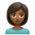 Person Pouting: Medium-Dark Skin Tone on WhatsApp 2.19.352