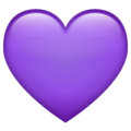 Purple Heart on WhatsApp 2.19.352