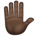 Raised Hand: Dark Skin Tone on WhatsApp 2.19.352