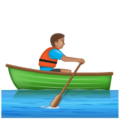 Person Rowing Boat: Medium Skin Tone on WhatsApp 2.19.352