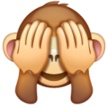 See-No-Evil Monkey on WhatsApp 2.19.352