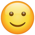 Slightly Smiling Face on WhatsApp 2.19.352