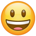 Grinning Face with Big Eyes on WhatsApp 2.19.352