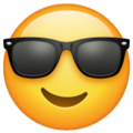Smiling Face With Sunglasses on WhatsApp 2.19.352