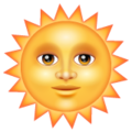 Sun with Face on WhatsApp 2.19.352