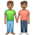 Men Holding Hands: Medium Skin Tone on WhatsApp 2.19.352
