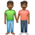 Men Holding Hands: Medium-Dark Skin Tone on WhatsApp 2.19.352