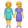 Women Holding Hands on WhatsApp 2.19.352