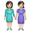 Women Holding Hands: Light Skin Tone on WhatsApp 2.19.352