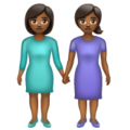 Women Holding Hands: Medium-Dark Skin Tone on WhatsApp 2.19.352
