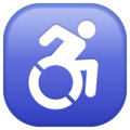 Wheelchair Symbol on WhatsApp 2.19.352