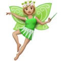 Woman Fairy: Medium-Light Skin Tone on WhatsApp 2.19.352