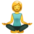 Woman in Lotus Position on WhatsApp 2.19.352