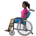 Woman in Manual Wheelchair: Dark Skin Tone on WhatsApp 2.19.352