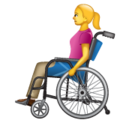 Woman in Manual Wheelchair on WhatsApp 2.19.352