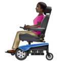 Woman in Motorized Wheelchair: Dark Skin Tone on WhatsApp 2.19.352