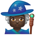 Woman Mage: Dark Skin Tone on WhatsApp 2.19.352
