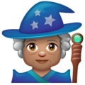 Woman Mage: Medium Skin Tone on WhatsApp 2.19.352