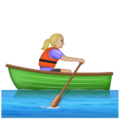 Woman Rowing Boat: Medium-Light Skin Tone on WhatsApp 2.19.352