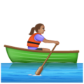 Woman Rowing Boat: Medium Skin Tone on WhatsApp 2.19.352