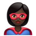 Woman Superhero: Dark Skin Tone on WhatsApp 2.19.352