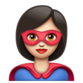 Woman Superhero: Light Skin Tone on WhatsApp 2.19.352