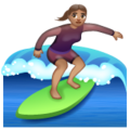 Woman Surfing: Medium Skin Tone on WhatsApp 2.19.352